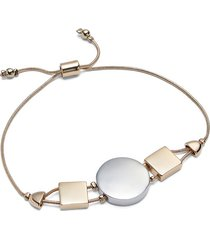 lane bryant women's mixed-metal geo slider bracelet onesz mixed metal