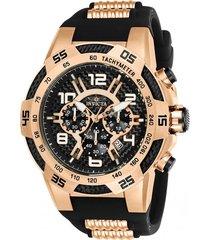 reloj invicta oro rosa, negro modelo 242ck para hombres, colección speedway
