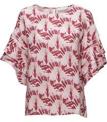 cupro top w. big sleeve blouses short-sleeved roze coster copenhagen