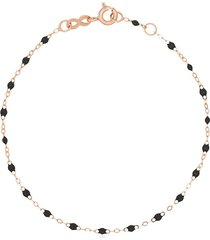 gigi clozeau 18k rose gold resin bracelet - grey