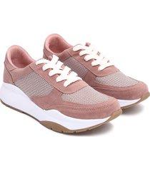 tenis mujer rosa suela amplia color rosado, talla 36