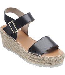 women's andre assous nakita platform wedge sandal, size 11 m - black