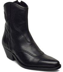stb-arietta lizard shoes boots ankle boots ankle boot - heel svart shoe the bear