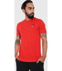 camiseta rojo-blanco puma classics