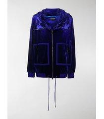 tom ford velvet zip-up hoodie