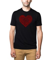 men's premium blend word art country music heart t-shirt
