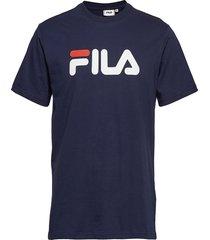 unisex classic pure ss tee t-shirts short-sleeved blå fila