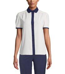 anne klein peter-pan-collar blouse