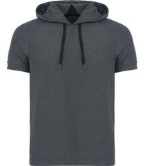 hugo boss black sood short sleeve hoodie 50383722