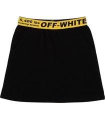 off-white black cotton skirt with logo