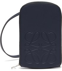 logo embossed zip pouch