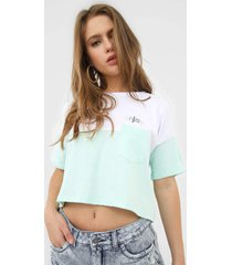 camiseta cropped hang loose over enjoy branca - branco - feminino - dafiti