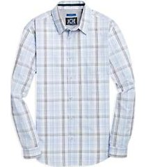 joe joseph abboud light blue plaid sport shirt