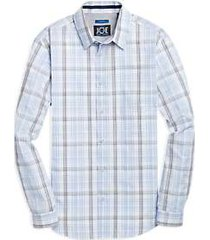 joe joseph abboud repreve® light blue plaid sport shirt