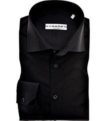 ledub overhemd zwart slim fit strijkvrij