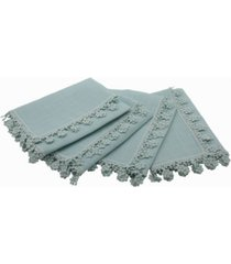 manor luxe floral charm lace trim napkins - set of 4