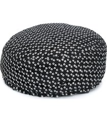 maison michel sancha sequined pillbox hat - black