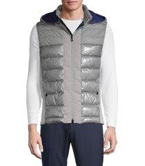 bogner men's willis quilted jacket - charcoal - size 40
