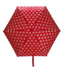 moschino guarda-chuva mini teddy - vermelho
