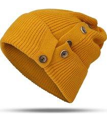 cappello da donna in maglia di lana calda a maniche lunghe da donna casual antivento colore solido soft con cappello