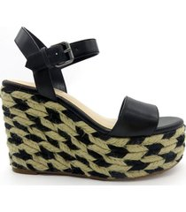 sandalia 7doitright negro nine west