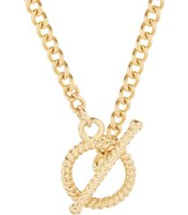brook & york 14k gold plated liv rope toggle necklace