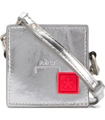 a-cold-wall* metallic box coin pouch - silver