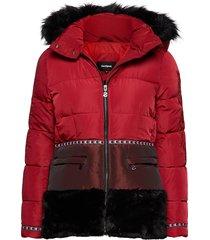 padded sakari outerwear coats padded jacket rood desigual