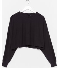 womens chill vibes ribbed lounge sweater - black