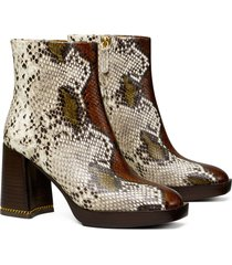 women's tory burch ruby block heel bootie, size 10 m - brown