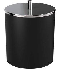 lixeira coza com tampa inox preta