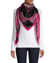 geometric silk triangle scarf