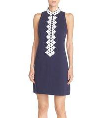 women's lilly pulitzer 'callista' ottoman sheath dress, size large - blue