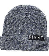 gorro de lana azul fight for your right