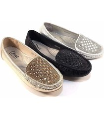 chic by lady couture cozy round toe dress comfort loafers choose sz/color