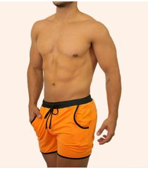 pantaloneta con bolsillo - 46009 - mandarina