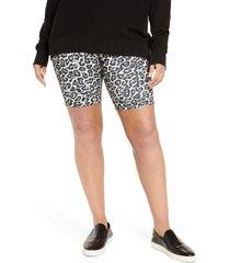 plus size women's afrm khloe tie dye bike shorts, size 3x - white