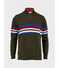 suéter camisero rayas para hombre 08992