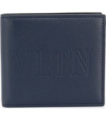 valentino garavani vltn print billfold wallet - blue