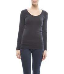 claesens ladies t-shirt round neck l/s blue