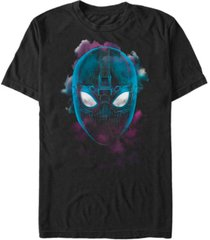marvel men's spider-man far from home stealth suit big face, short sleeve t-shirt