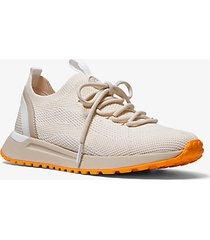 mk sneaker bodie in mesh - panna (naturale) - michael kors