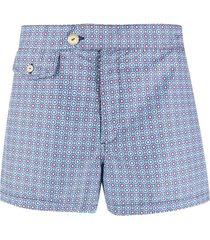 drumohr geometric-print swim shorts
