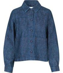 berna jacket in indigo blue