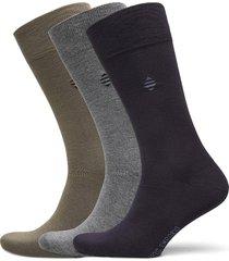 pe 3pk daniel bamboo crew underwear socks regular socks grå panos emporio
