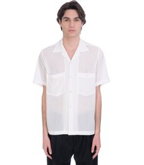 cmmn swdn shirt in white polyester
