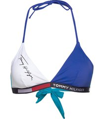 fixed triangle rp bikinitop blå tommy hilfiger