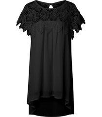 lace panel chiffon tunic shift summer dress