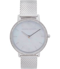 rebecca minkoff womens major stainless steel mesh bracelet watch 35mm