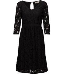 faly dress jurk knielengte zwart cream